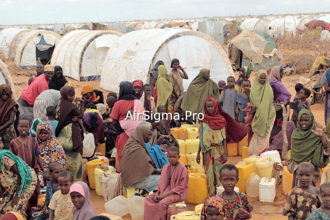 Refugee camp in Somalia